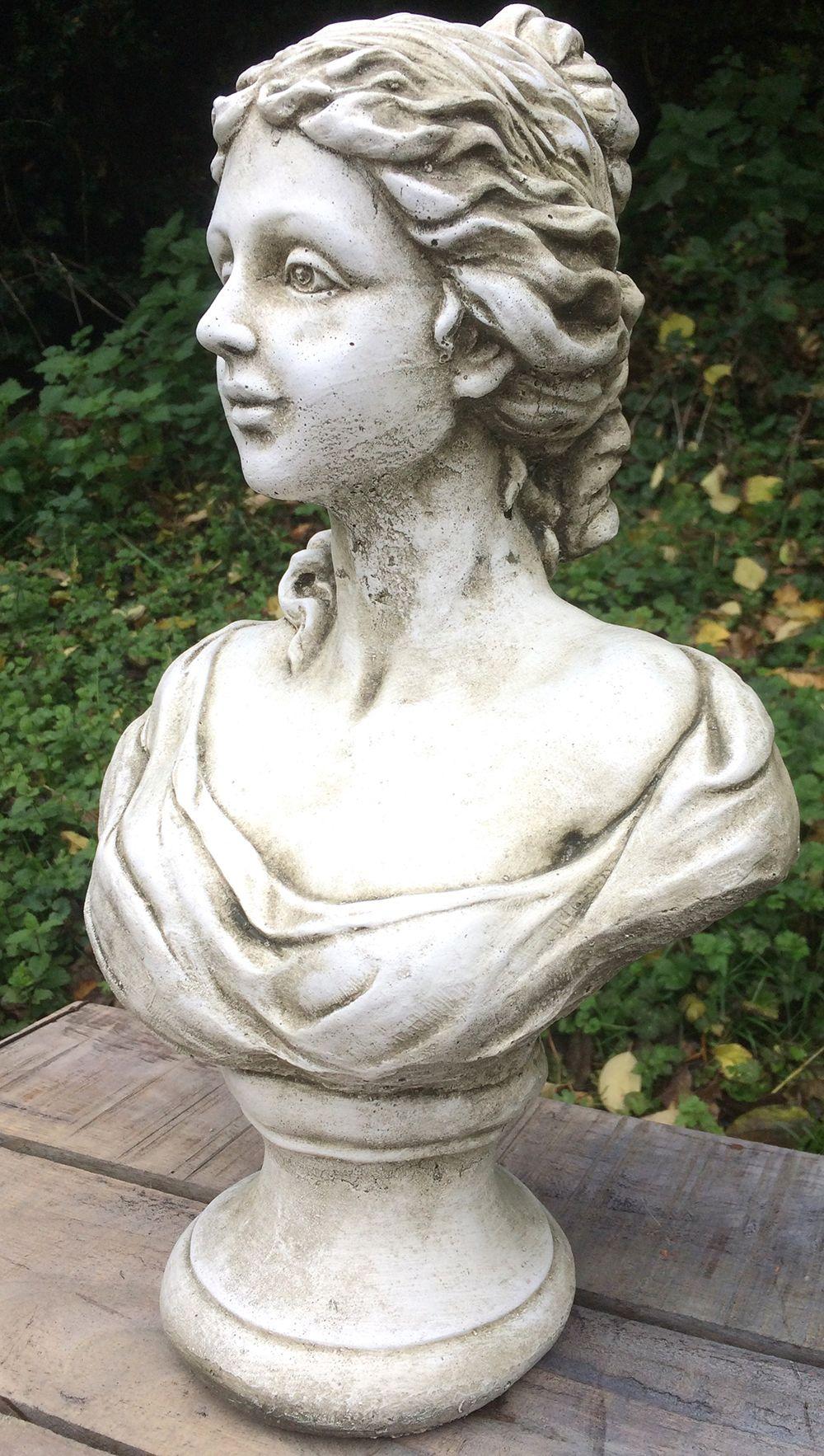 Female Bust Statue Marie Stone Garden Ornament